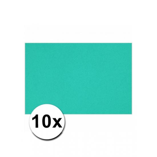 10 oceaan blauwe kartonnen vellen A4