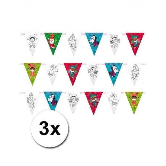 3 plastic Sinterklaas slingers 6 m thumbnail