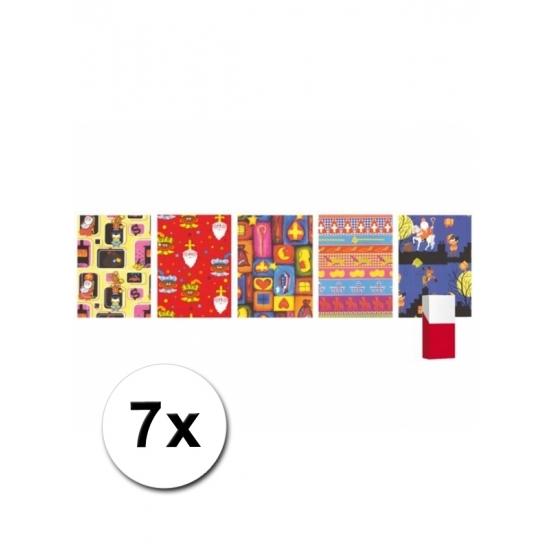 7 rollen Sinterklaas inpak papier thumbnail