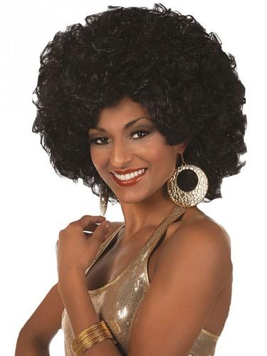 Afro pruik voor dames zwart