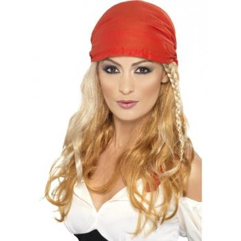 Blonde piraten pruik voor dames