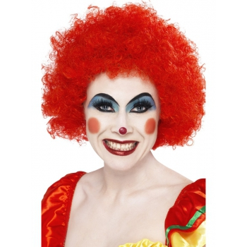 Crazy clown wig rode afro