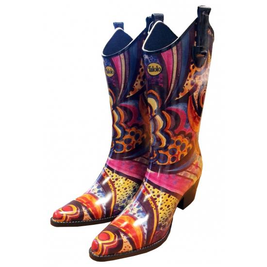 Festival cowboy laarzen bloemenprint