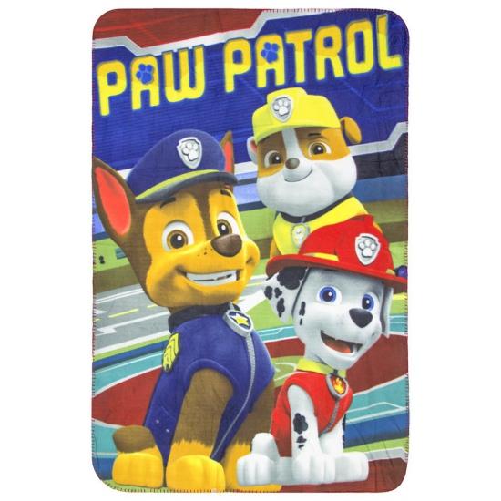 Fleece plaid Paw Patrol rood 150 x 100 cm thumbnail
