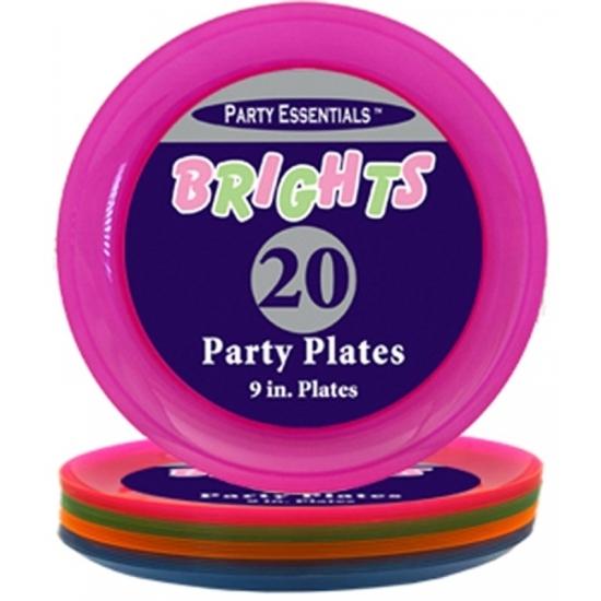 Fluorescerende wegwerp borden 20 stuks