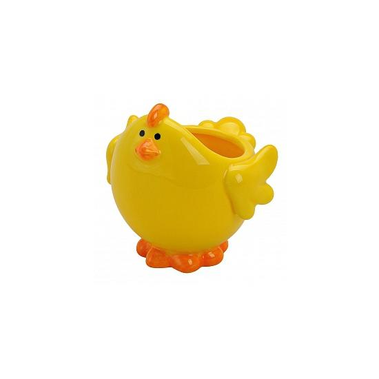 Gele kip schaal voor paaseieren