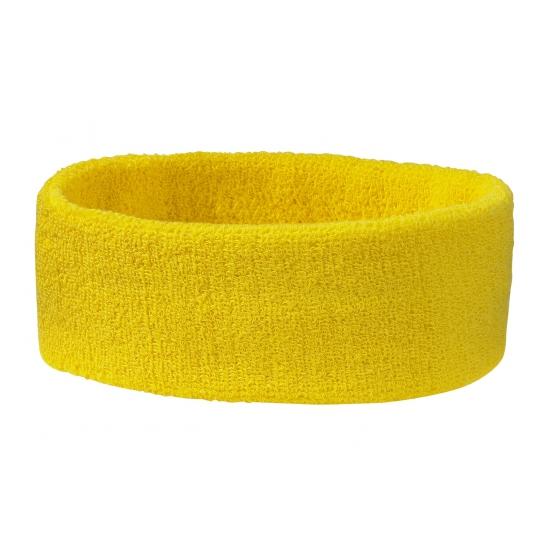 Goudgele hoofd zweetband