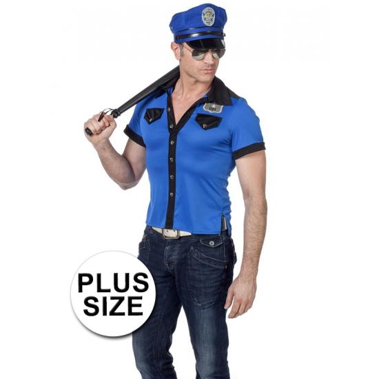 Grote maat politie overhemd heren