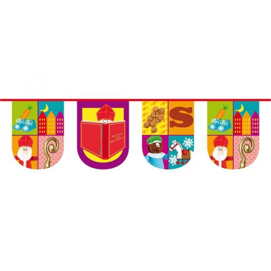 Halfronde vlaggenlijn trendy Sinterklaas thumbnail