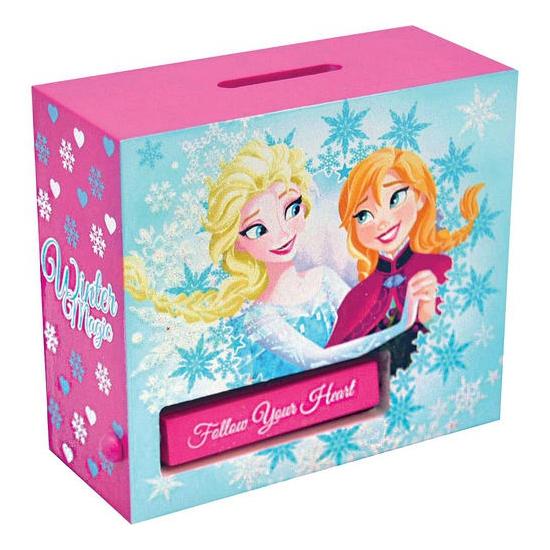 Houten Frozen spaarpot