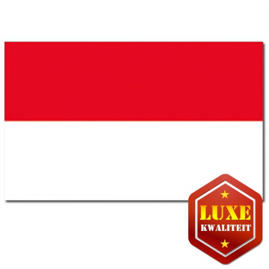 Indonesische vlag luxe kwaliteit