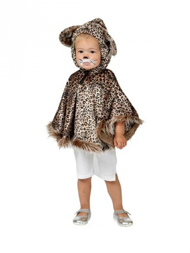 Luipaard poncho voor peuters