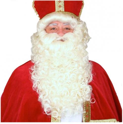Luxe Sinterklaas pruik met baard set thumbnail