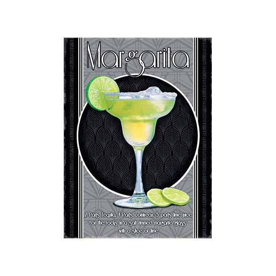 Metalen wand bordje Margarita