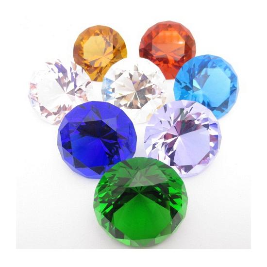 Mooie groene decoratie diamant 4 cm