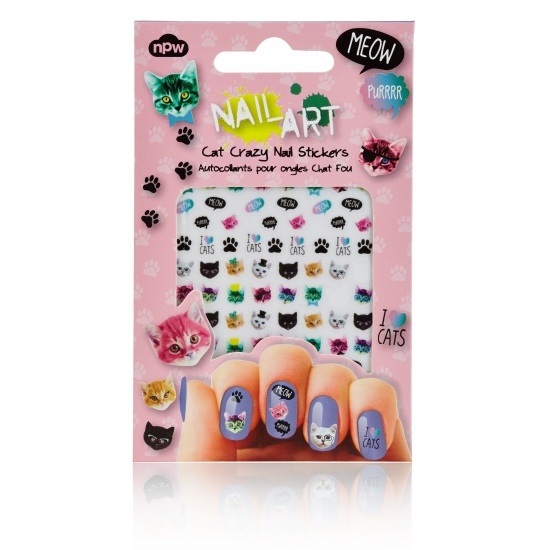 Nagel decoratie sticker set katten