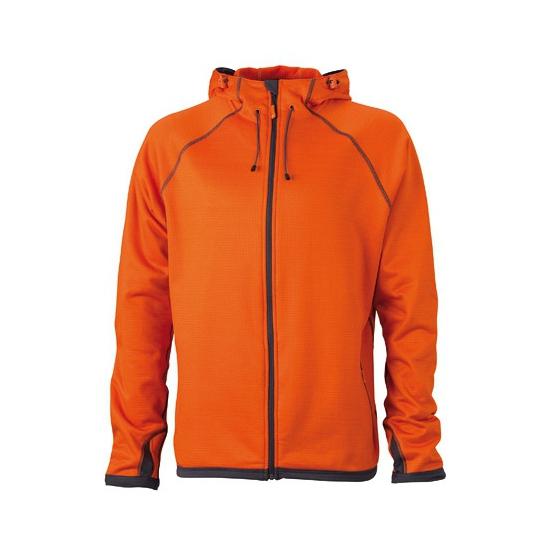 Oranje heren fleece vesten