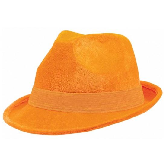 Oranje suede hoeden