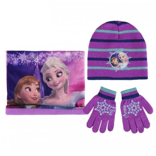 Paarse meisjes winter setje Frozen