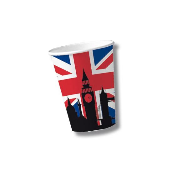 Papieren United Kingdom bekers 10 st