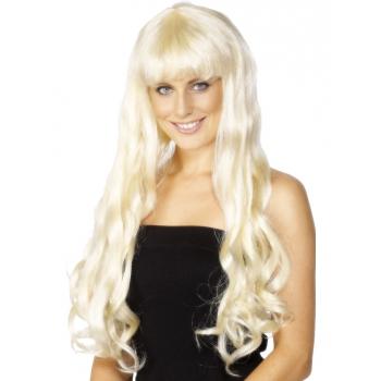 Paris pruik met lang blond haar