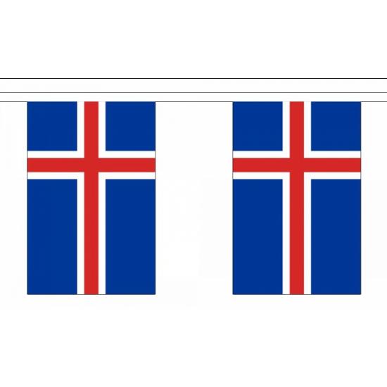 Polyester vlaggenlijn IJsland