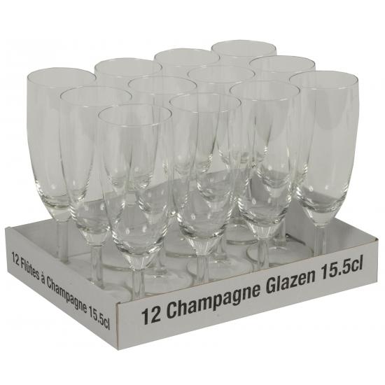 Prosecco glazen 12 stuks
