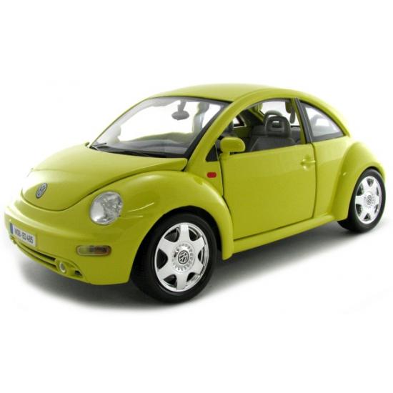 Schaalmodel Volkswagen Beetle geel