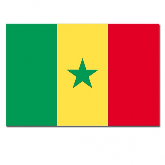 Senegalese vlag 90 x 150