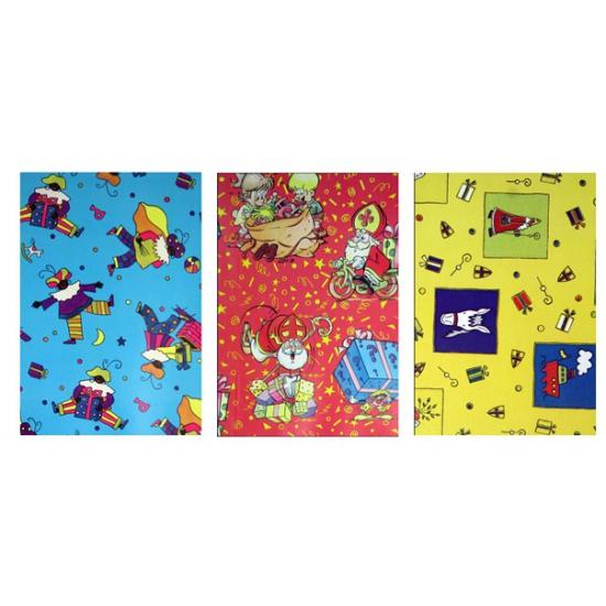 Sinterklaas folie inpakpapier 1 rol thumbnail