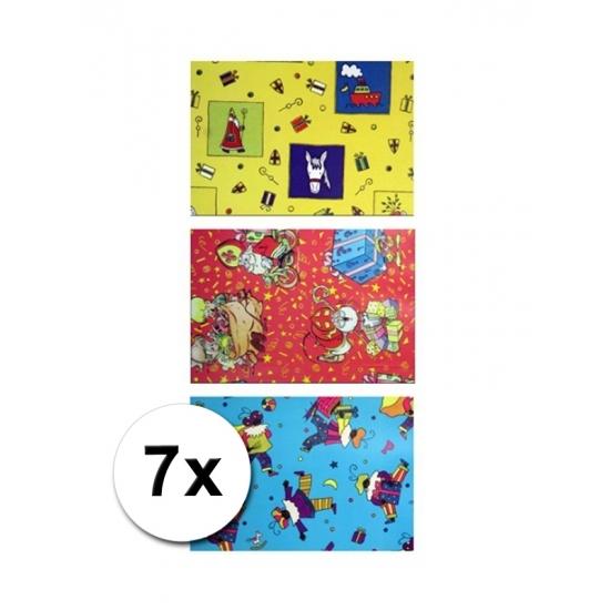 Sinterklaas folie inpakpapier 7 rollen thumbnail