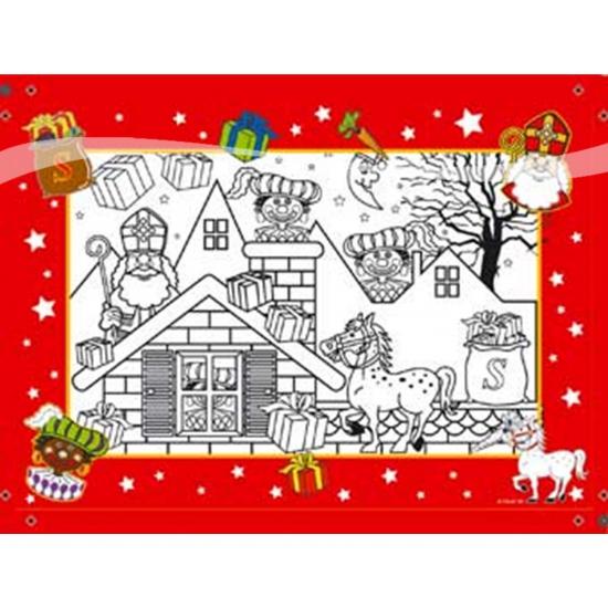Sinterklaas kleurplaten 6 stuks thumbnail