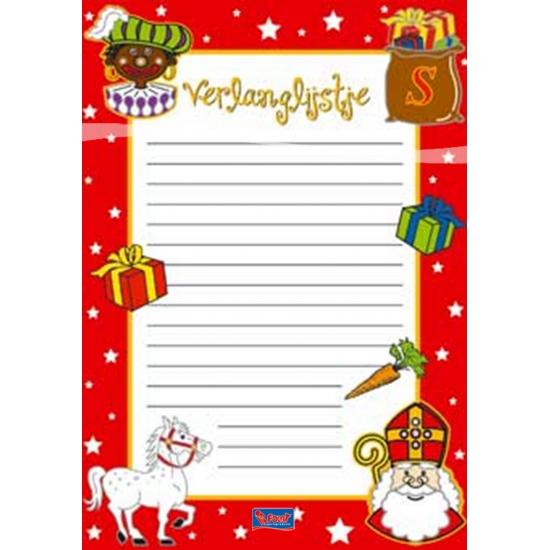 Sinterklaas verlanglijsten 6 stuks thumbnail