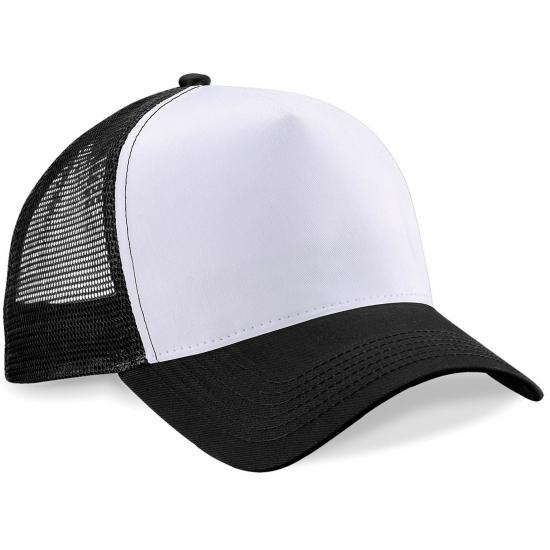 Snapback truckerpet zwart/wit