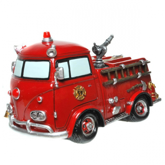 Stenen spaarpot brandweerauto