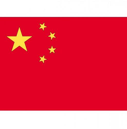 Stickertjes van vlag van China