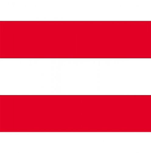 Stickertjes van vlag van Oostenrijk