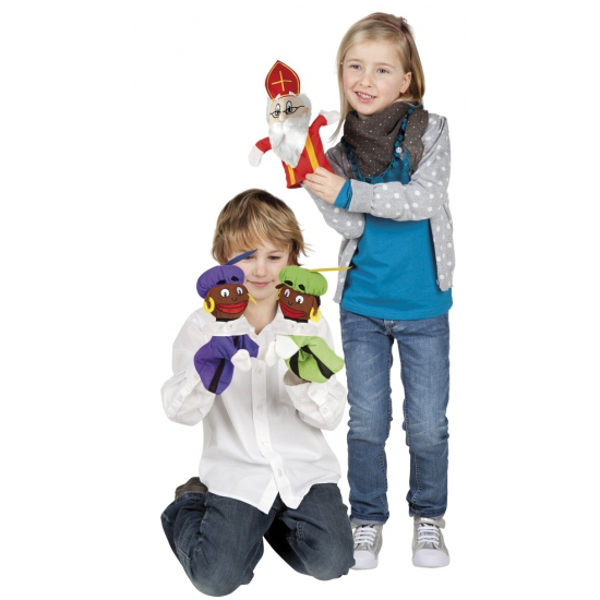 Stoffen Sinterklaas handpop 25 cm thumbnail