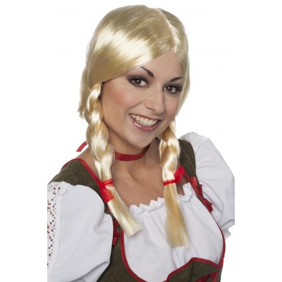 Tiroler pruik Greetje voor dames