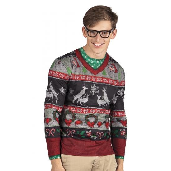 Verkleed t-shirt kersttrui heren