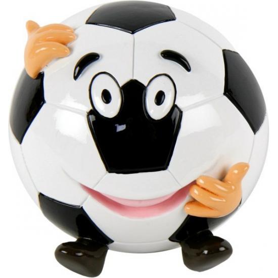 Voetbal spaarpot met gezicht