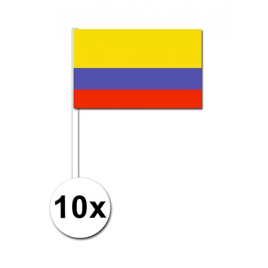 Zwaaivlaggetjes Colombia 10 stuks
