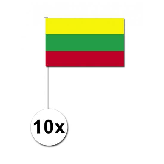 Zwaaivlaggetjes Litouwen 10 stuks