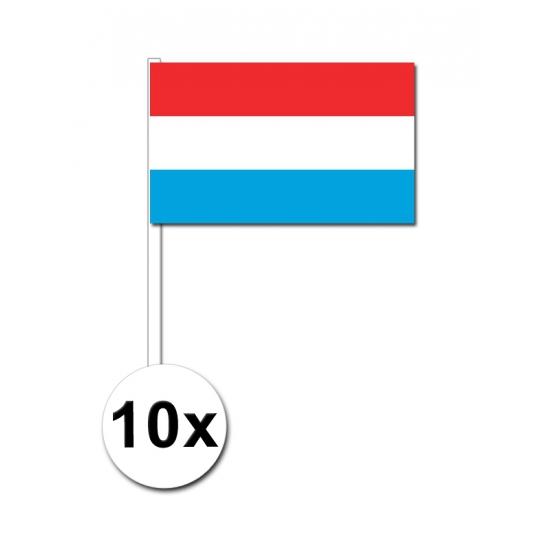 Zwaaivlaggetjes Luxemburg 10 stuks