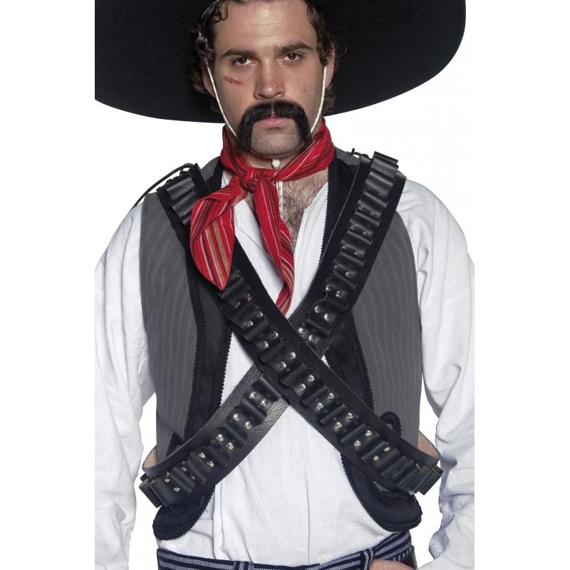 Zwart cowboy kogelriem