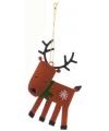 Kerst decoratie hert 12 cm
