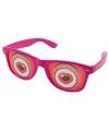 Roze brillen met hartjes ogen
