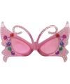 Roze vlinder brillen
