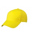 5 panel baseball cap geel dames en heren