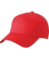 5 panel baseball cap rood dames en heren